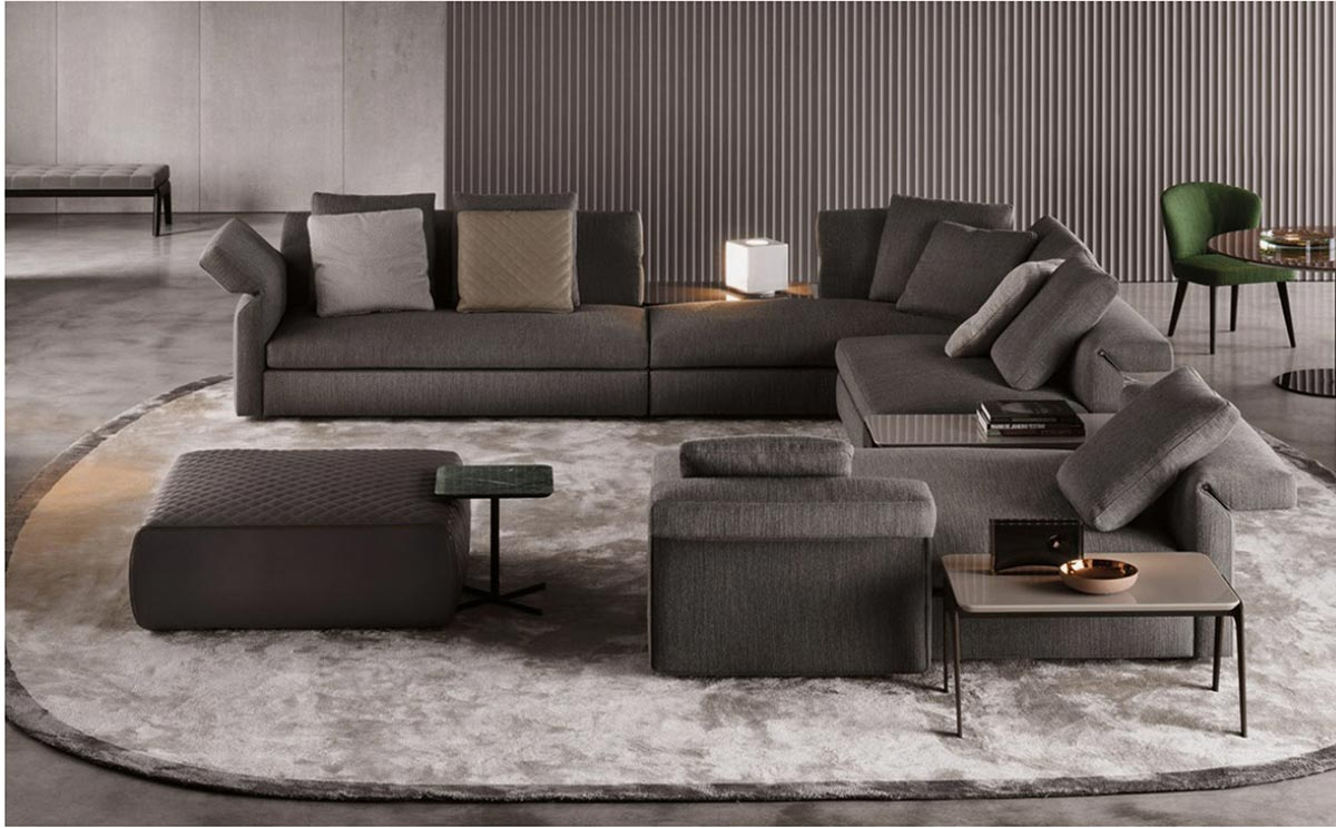 ... Minotti Which Makes It Possible To Adjust The Support Angle Of The  Cushions And Modify The Comfort Of The Sofa Depending On How It Is Adjusted.
