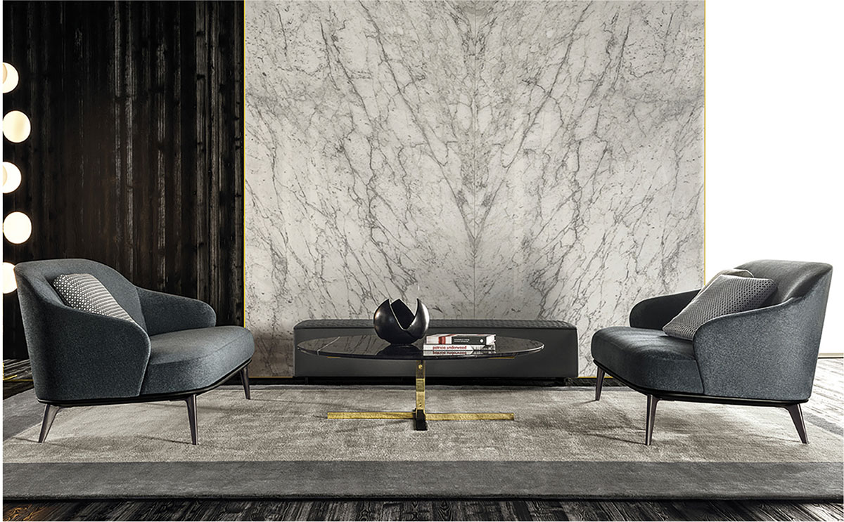 Minotti Leslie Seating Collection Arkitektura Assembly