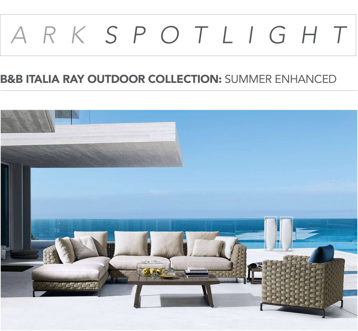 b b italia ray outdoor collection arkitektura assembly. Black Bedroom Furniture Sets. Home Design Ideas